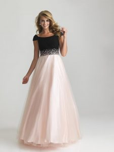 Prom Dress with Cap Sleeve
