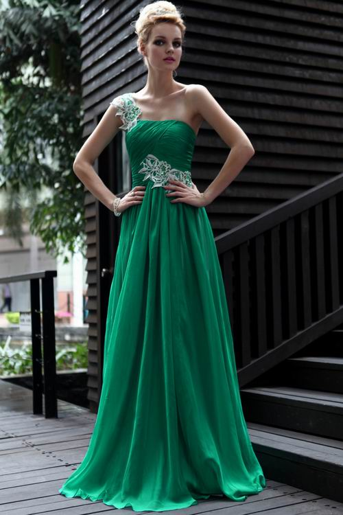 green prom dresses dressed up girl
