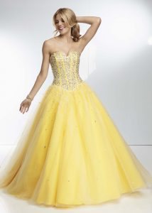 Yellow Prom Dresses Dressed Up Girl