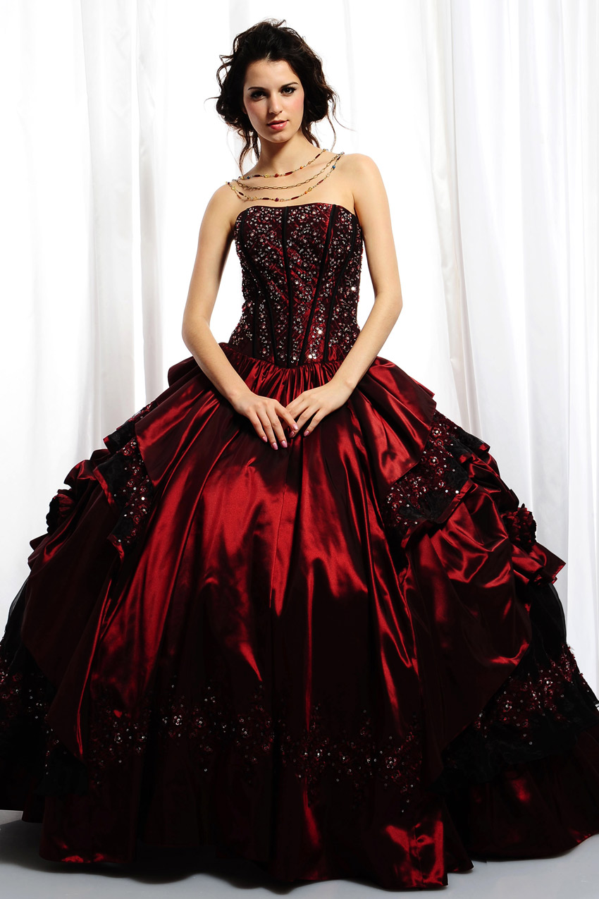 Ball Gown Prom Dresses Dressed Up Girl