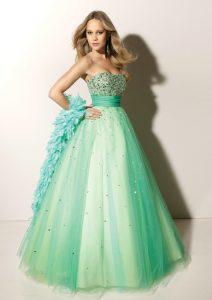 Seafoam Green Prom Dress