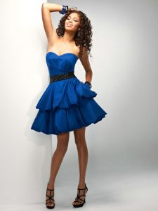 Short Blue Prom Dresses