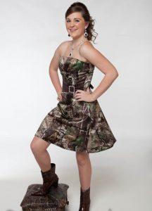 Short Camo Prom Dresses