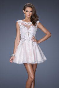 Short Cap Sleeve Prom Dress