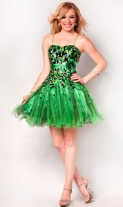 Short Green Prom Dresses