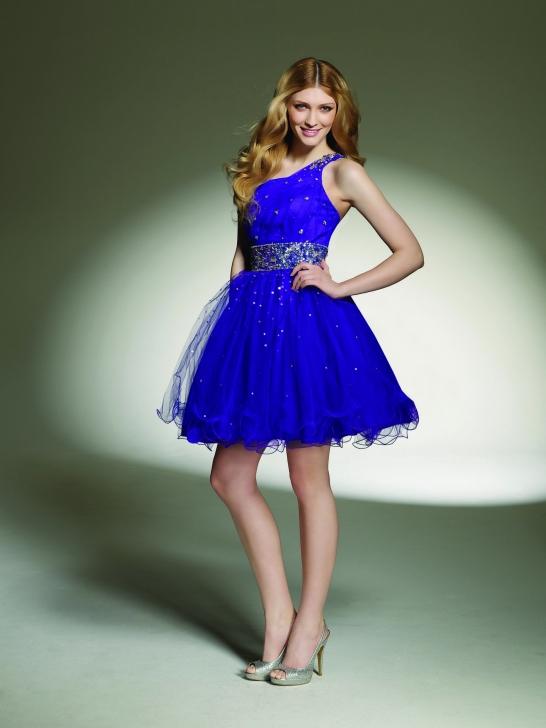 short one shoulder formal dress