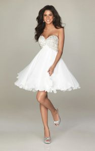 Short White Prom Dress