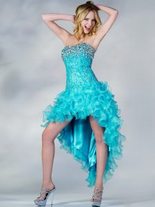 Turquoise High Low Prom Dresses
