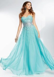 Turquoise Long Prom Dresses