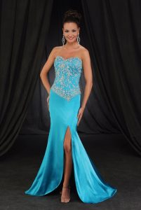 Turquoise Mermaid Prom Dress