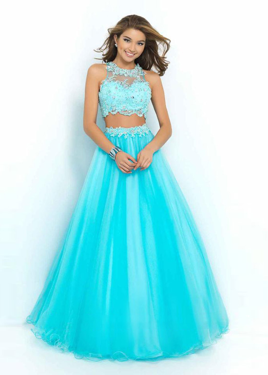 Two Pieces Prom Dresses 7