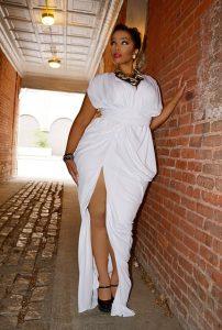 White Dress Plus Size