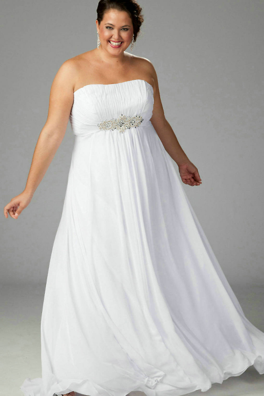 White Strapless Maxi Dress Plus Size – Fashion dresses