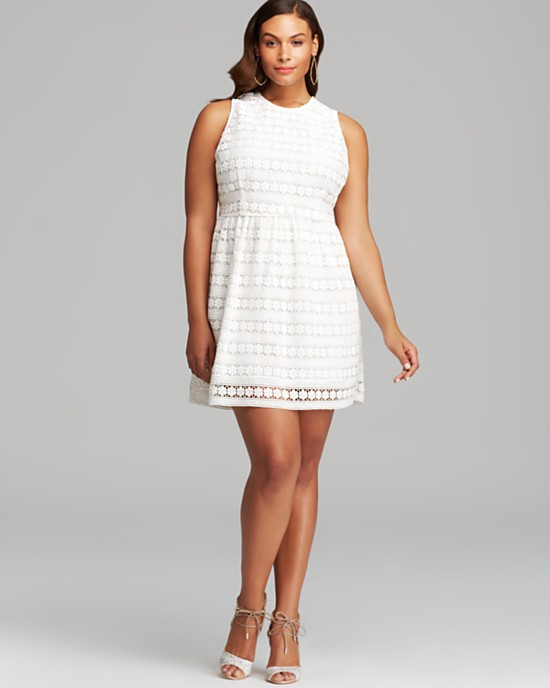 Beautiful Plus Size White Casual Dress Contemporary ...
