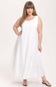 White Plus Size Maxi Dress