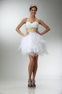 White Short Prom Dress