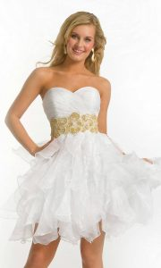 White Short Prom Dresses