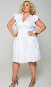 White Summer Dresses Plus Size