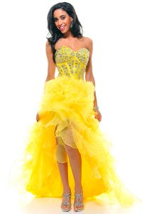 Yellow High Low Prom Dresses