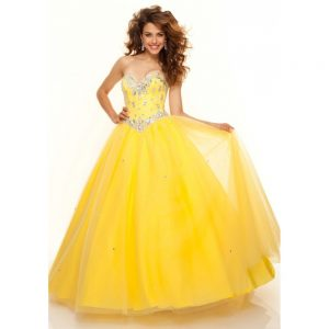 Yellow Long Prom Dresses