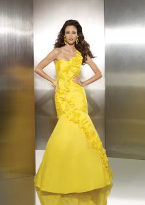 Yellow Mermaid Prom Dress