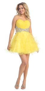 Yellow Short Prom Dresses