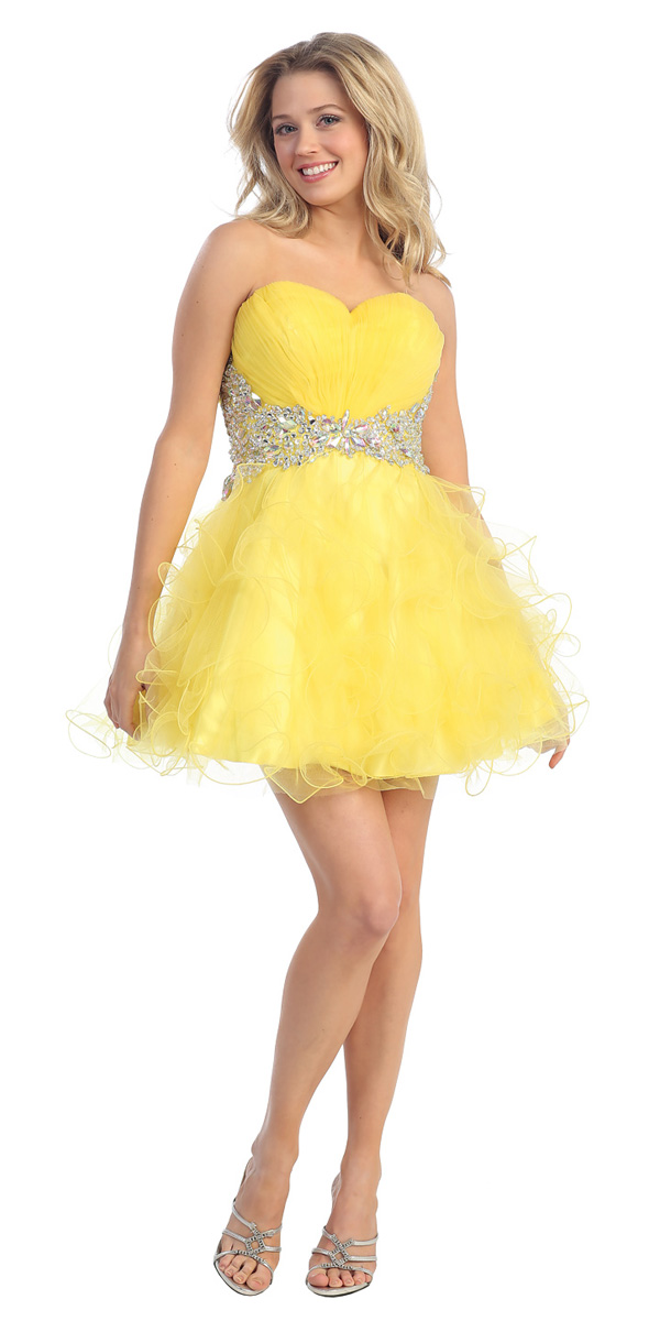 Yellow Homecoming Dresses 65