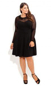 Black Plus Size Skater Dress