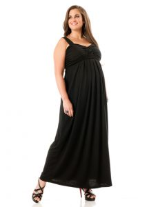 Plus Size Maternity Maxi Dress