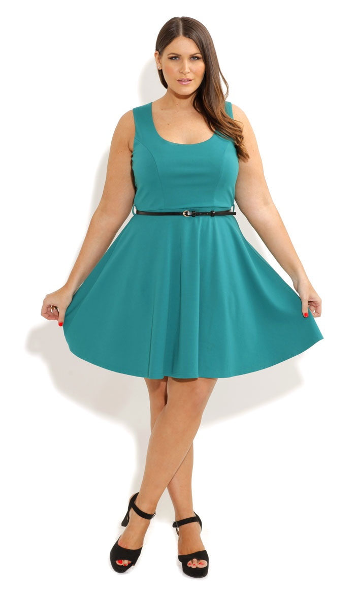 Plus Size Skater Dress Dressed Up Girl