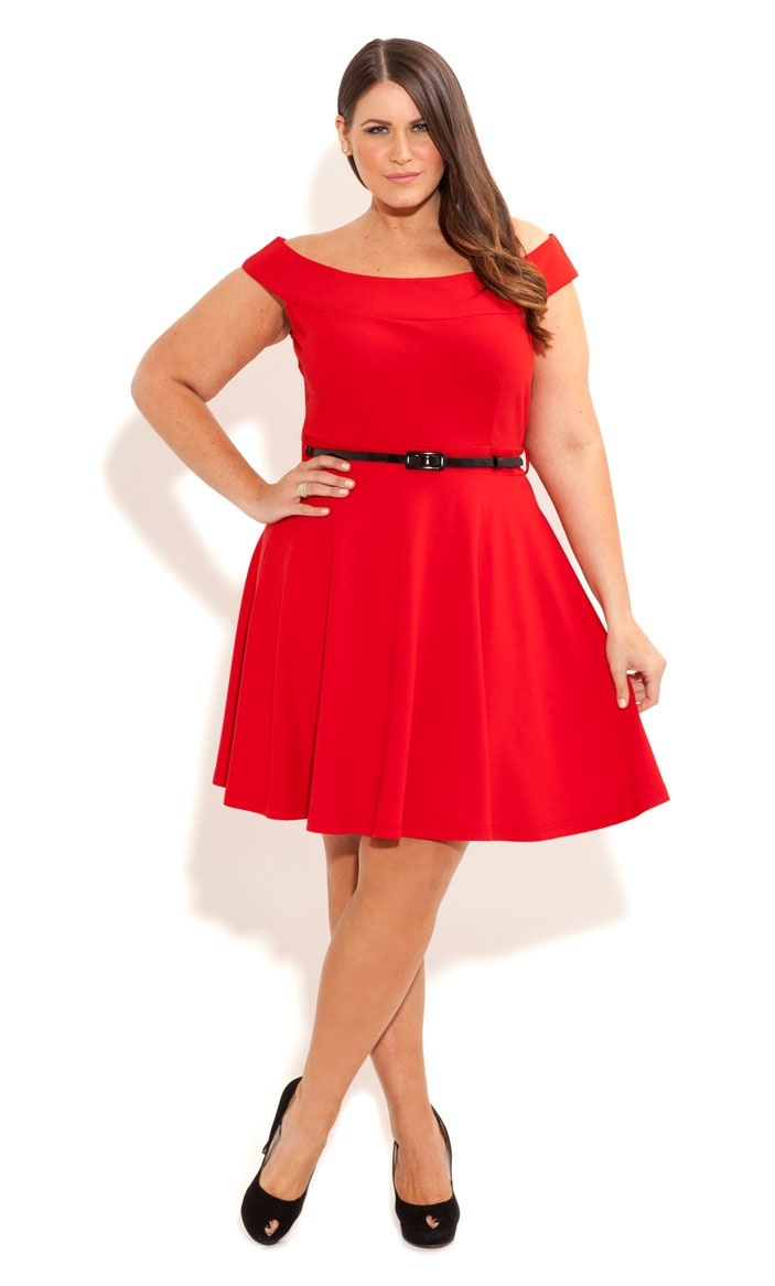 Plus Size Skater Dress   DressedUpGirl.com