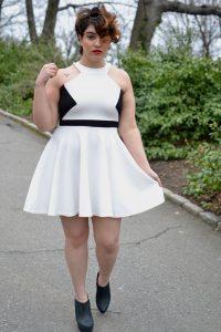 White Plus Size Skater Dress