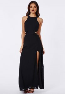 Black Cut Out Maxi Dress