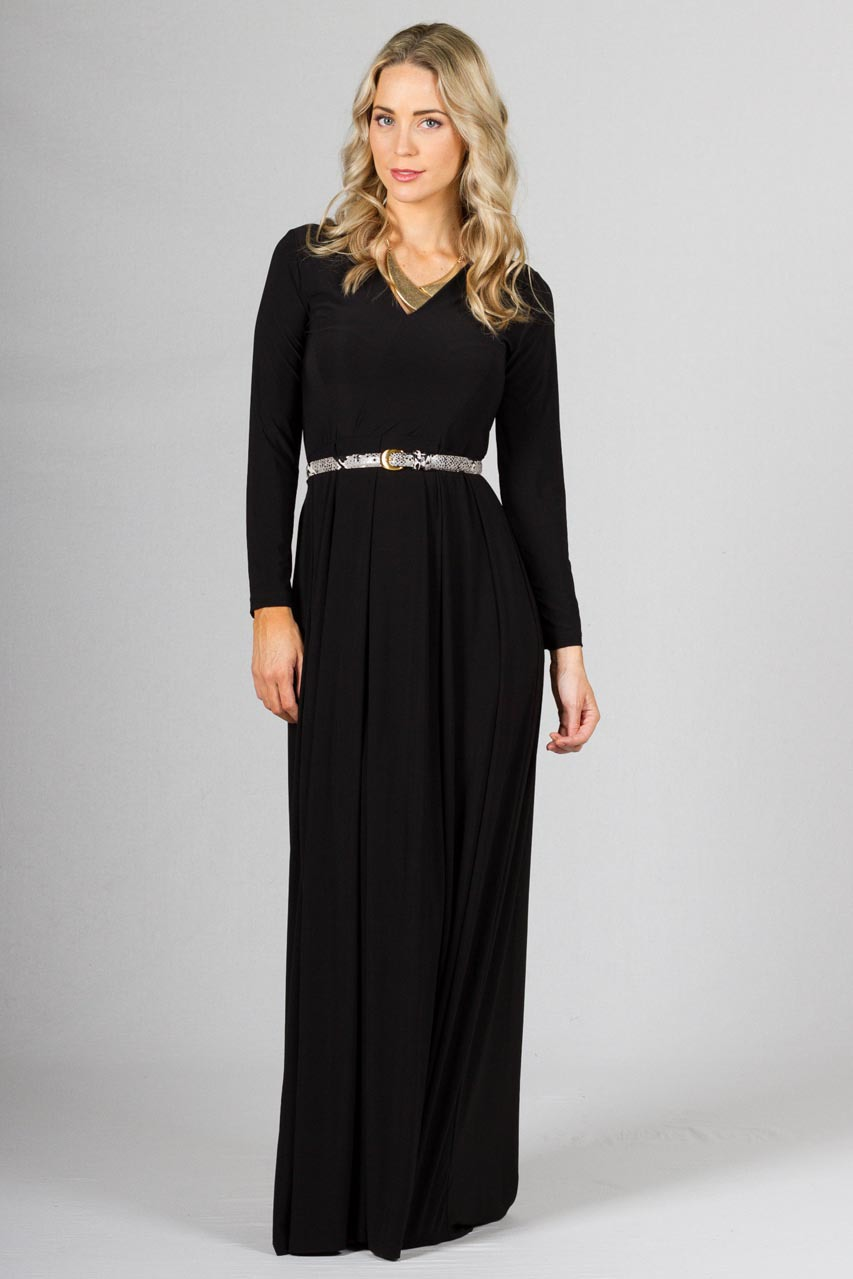 Long Sleeve Maxi Dress Dressedupgirl Com