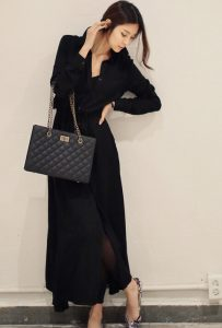 Black Maxi Dress Long Sleeve