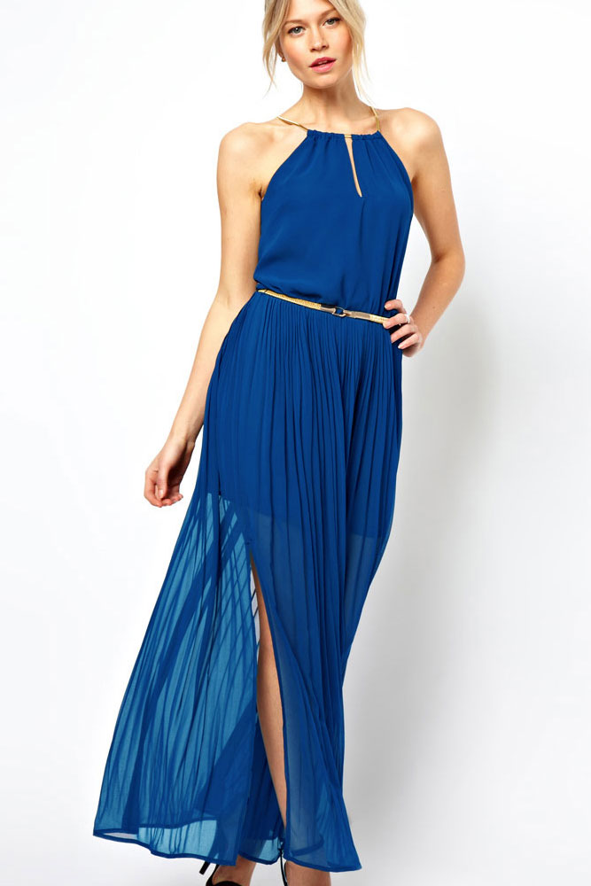 Blue Maxi Dress - Dressed Up Girl