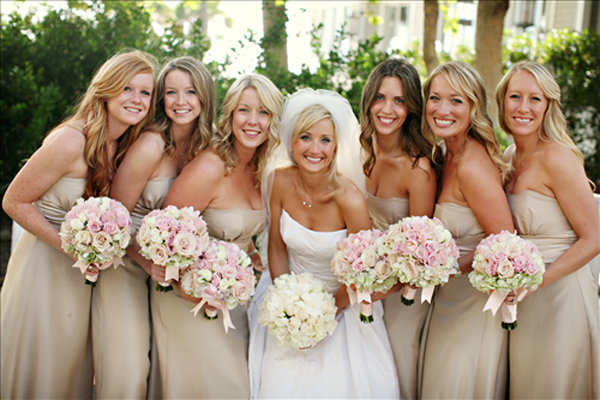 Champagne Bridesmaid Dresses  Dressed Up Girl