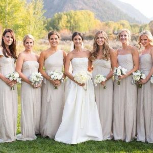 Champagne Bridesmaid Dresses Long