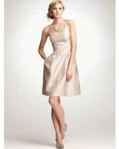 Champagne Bridesmaid Dresses Short