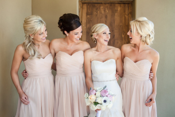 Champagne Bridesmaid Dresses - Dressed Up Girl