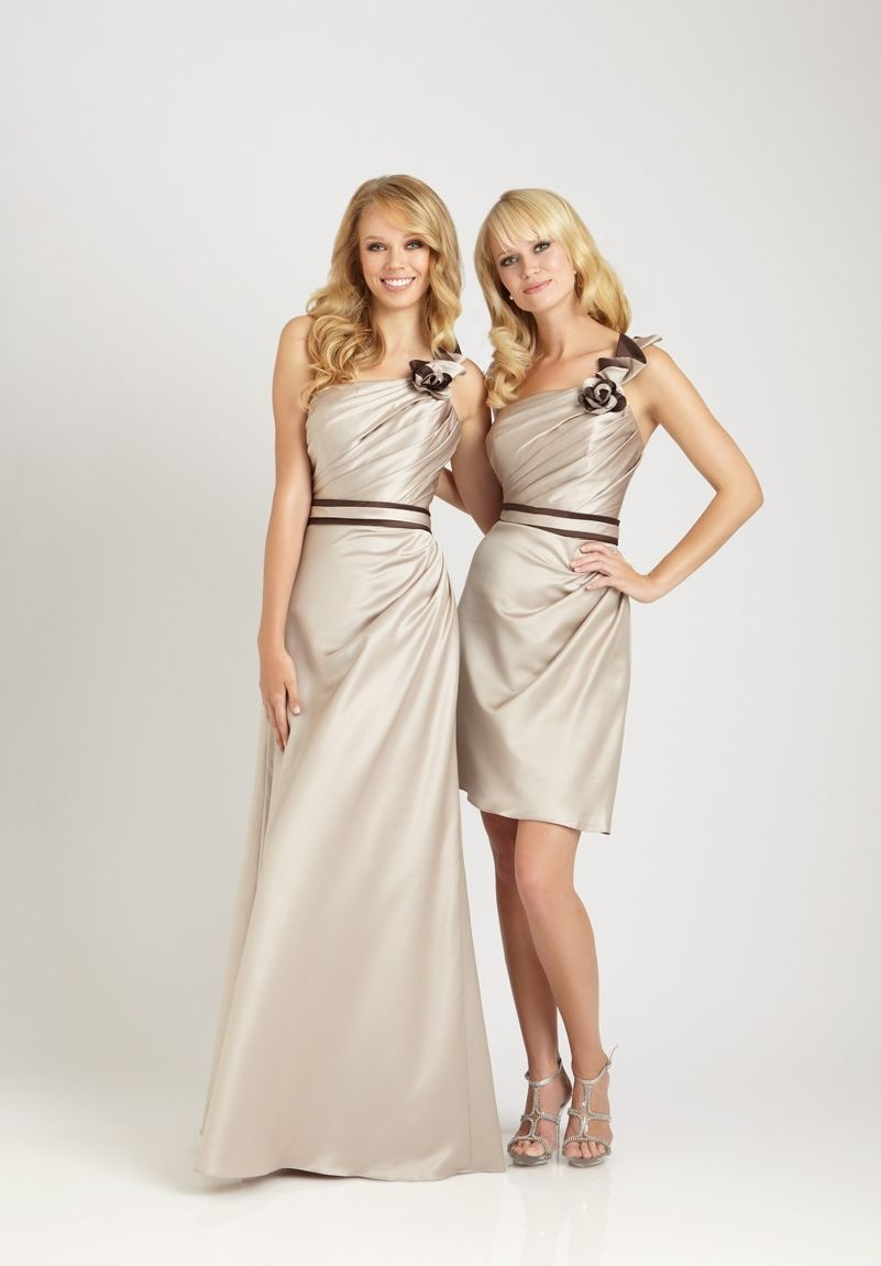 Champagne bridesmaid dresses dressed up girl for Champagne color wedding dresses