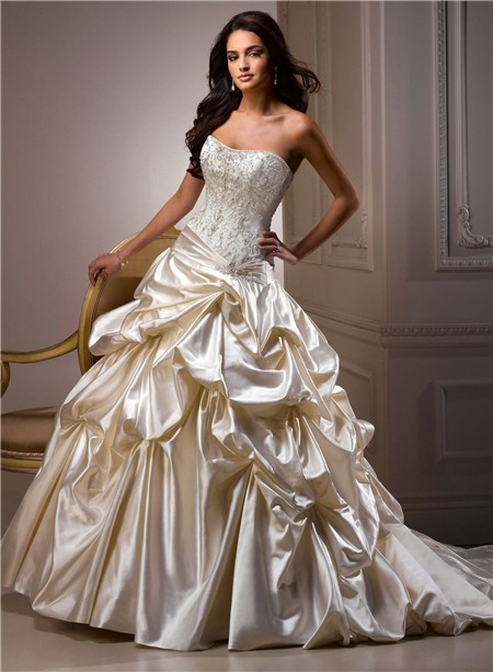 Champagne wedding dresses dressed up girl for Champagne color wedding dresses