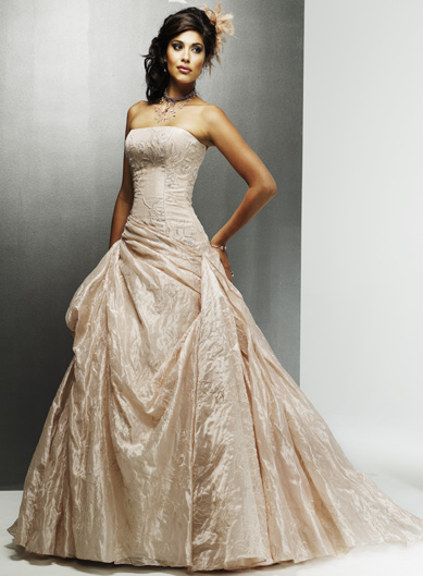 Champagne wedding dresses dressed up girl for Plus size champagne colored wedding dresses