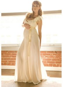 Chiffon Maternity Maxi Dress