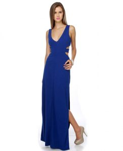 Cobalt Blue Maxi Dress