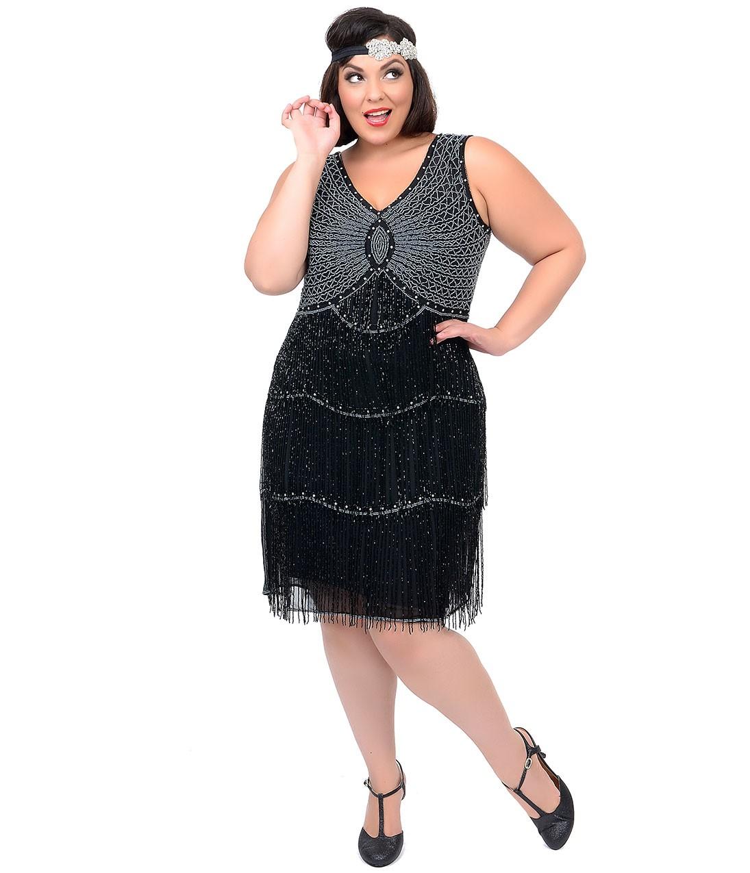 Plus Size Flapper Dress | DressedUpGirl.com