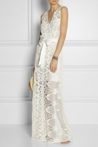 Lace Maxi Dress White