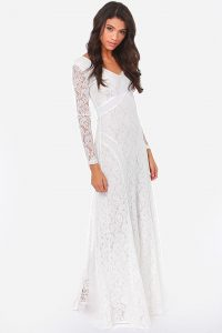 Lace White Maxi Dress