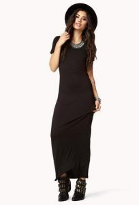 Long Black Maxi Dress with Sleeves