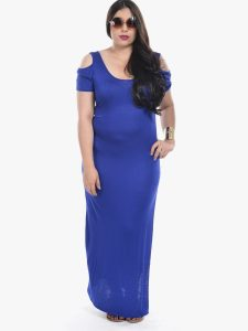 Long Blue Maxi Dress